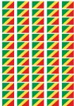 Congo Brazzaville Flag Stickers - 65 per sheet